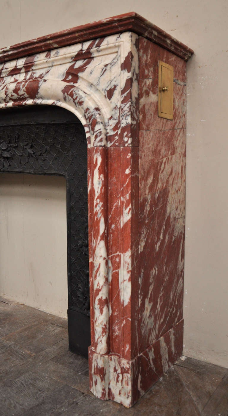 Antique Louis XIV Style Fireplace in Red Marble from ...