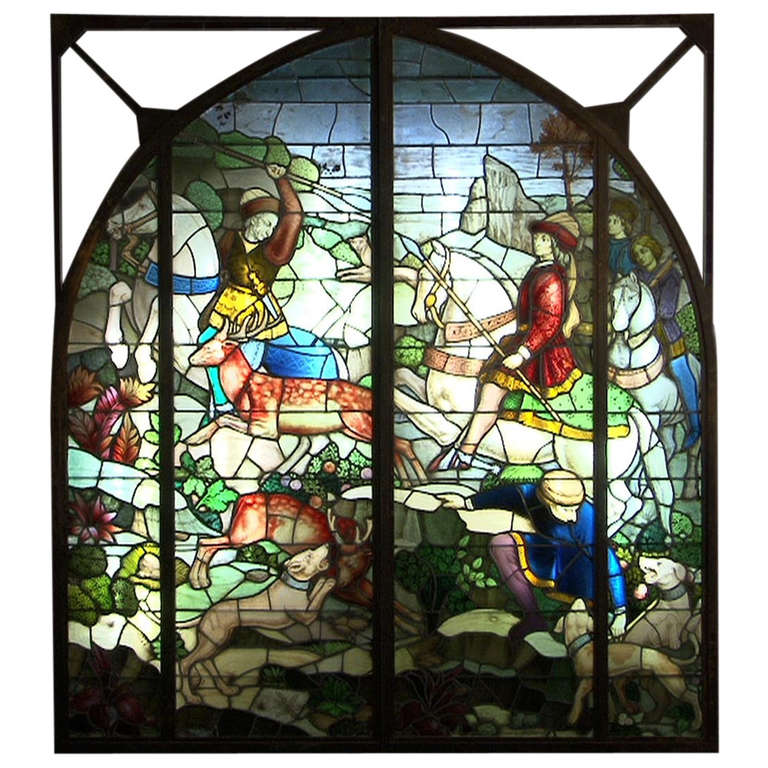 Stained Glass Window By The Maum Jean Manufacture After