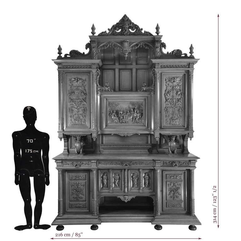 Renaissance Dining Room Furniture: Antique Neo-Renaissance Style Dining Room Set In Walnut