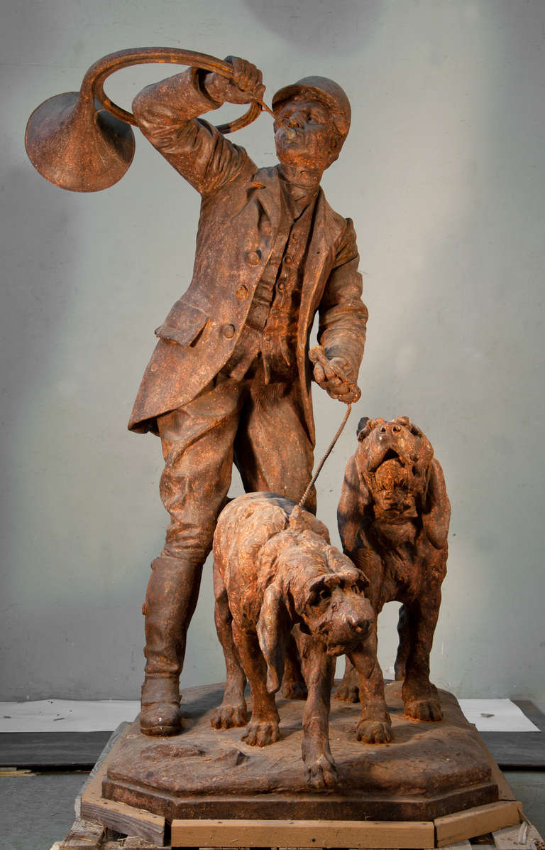 Cast iron statue by the val d 39 osne foundry dated 1903 for sale at 1stdibs - Wrought iron garden sculptures ...