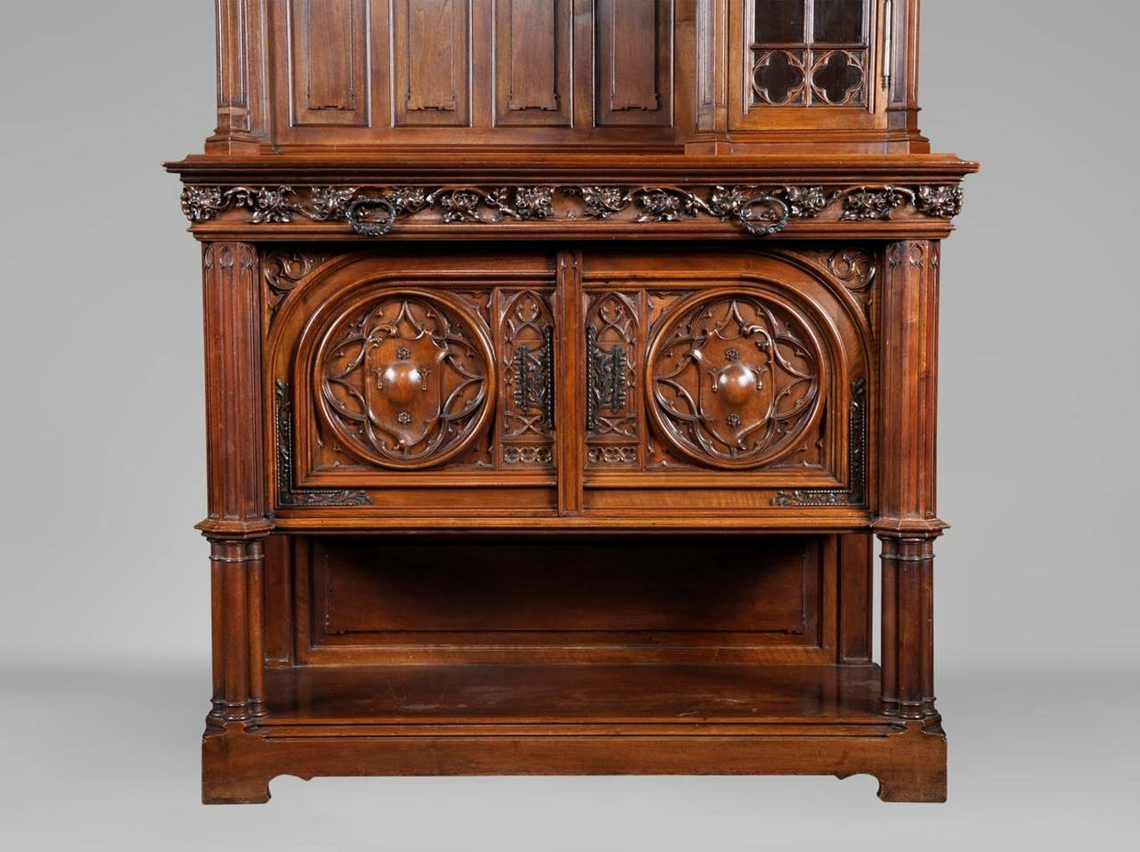 19th Century Neo Gothic Style Dresser Carved Walnut For At