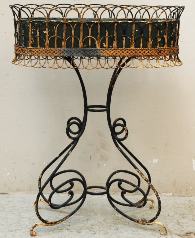 Wrought Iron Antique Plant Stand, period : 19th century image 2