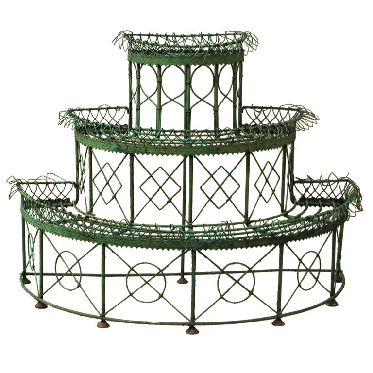 Iron tiered plant stand period th century at stdibs