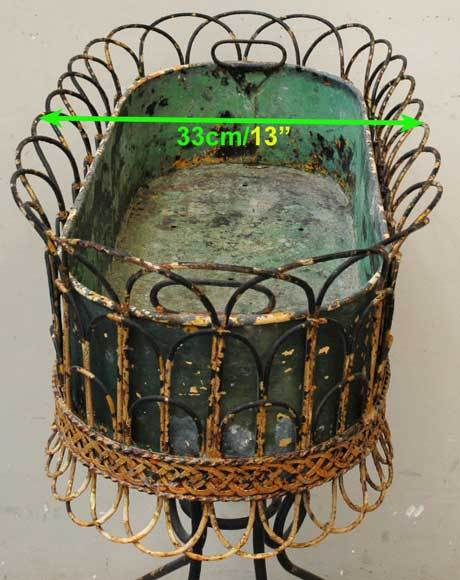 Wrought Iron Antique Plant Stand, period : 19th century image 6