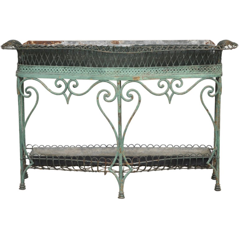 antique wrought iron plant stand at 1stdibs. Black Bedroom Furniture Sets. Home Design Ideas