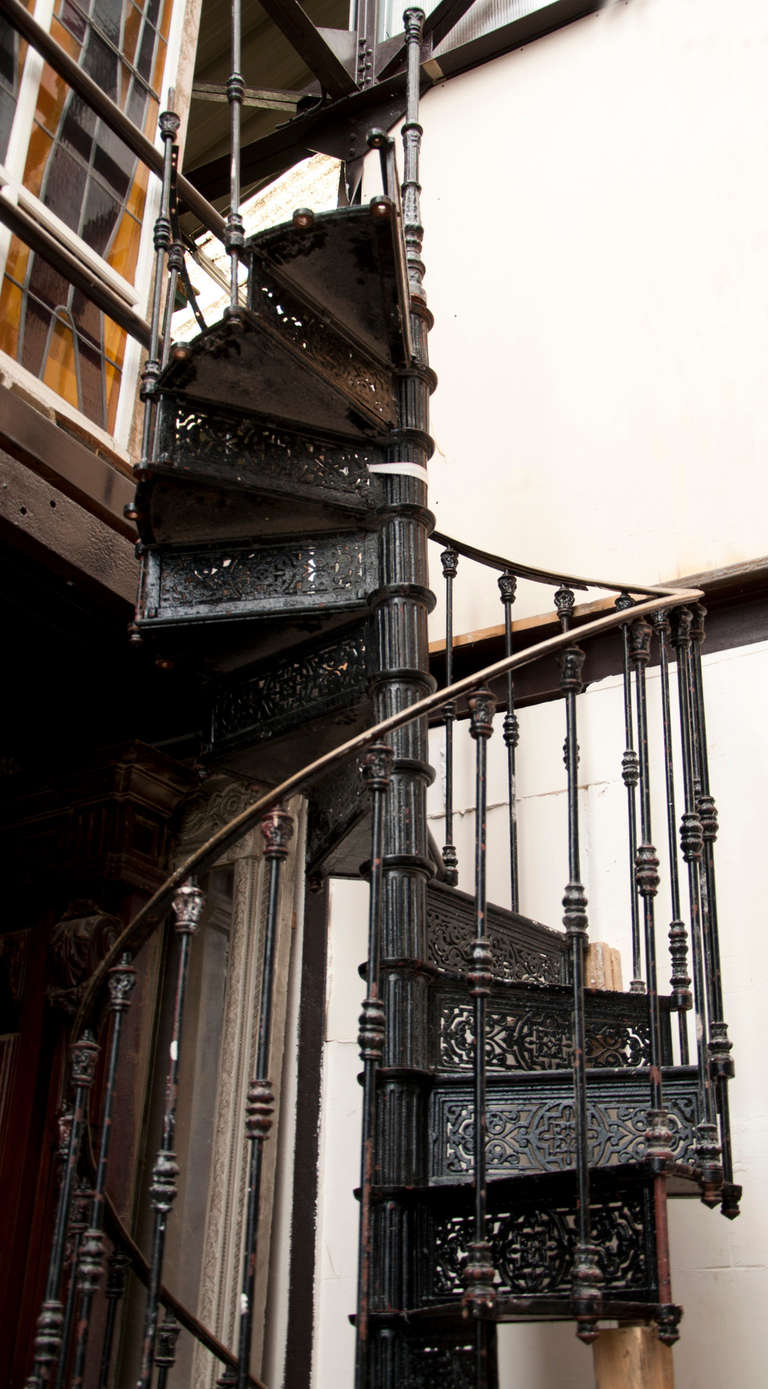 Antique Spiral Staircase Made Of Cast Iron 19th Century