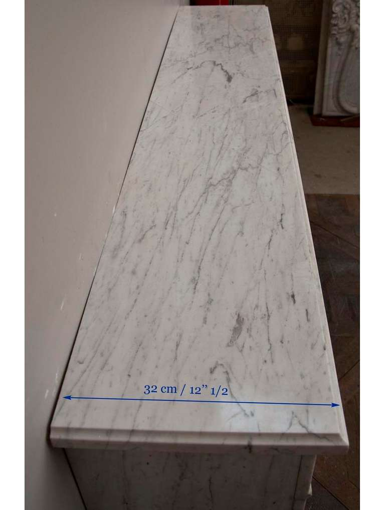 Antique Louis Xvi Period Fireplace Made Out Of Carrara