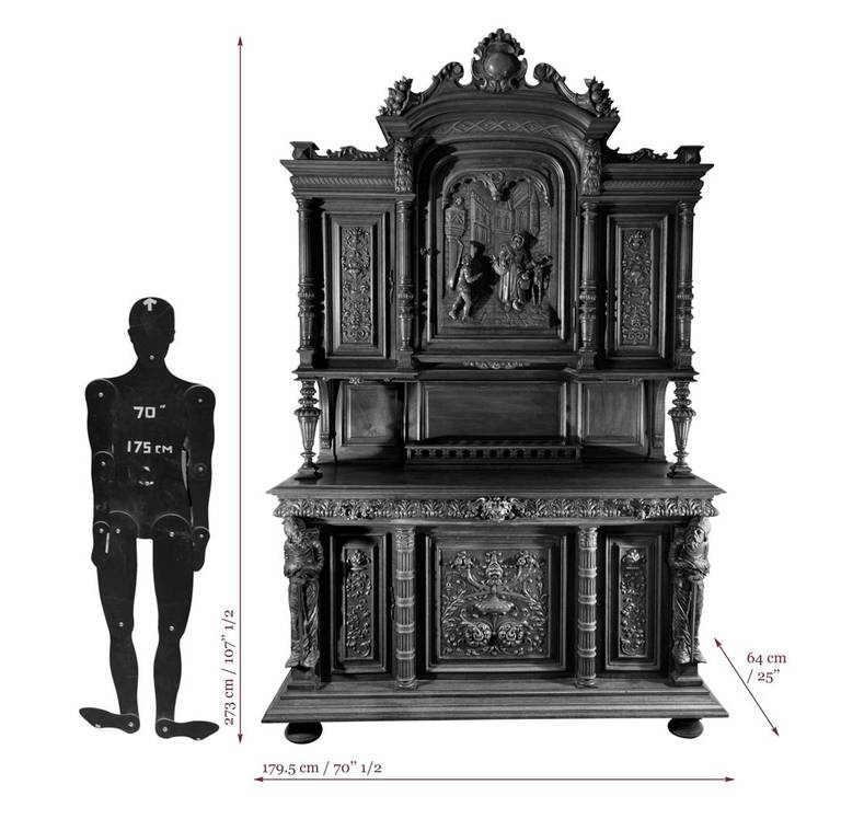 Neo Renaissance 9 Piece Traditional Dining: Neo-Renaissance Style Dining Room Furniture In Walnut Wood