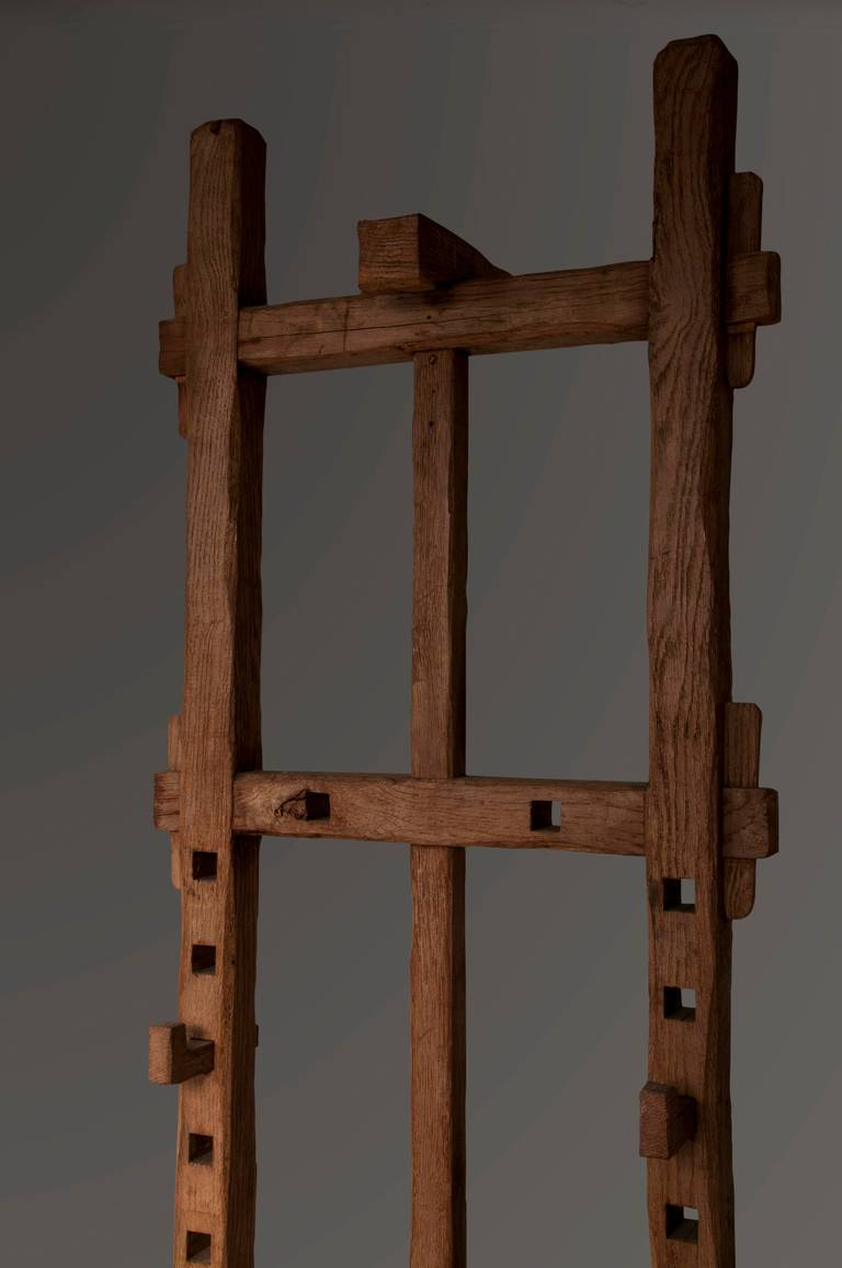 Antique Oak Wood Easel Circa 1940 France At 1stdibs