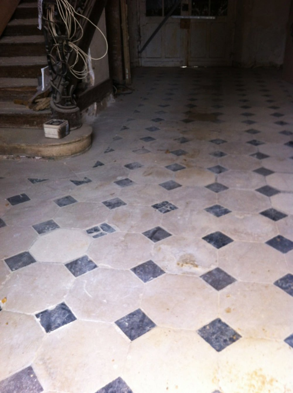 18th century cabochon floor made of st maximin stone and