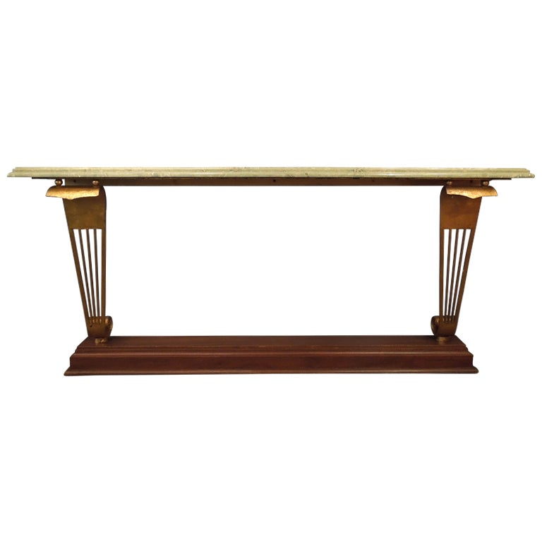 Art deco console table at 1stdibs - Table haute console ...