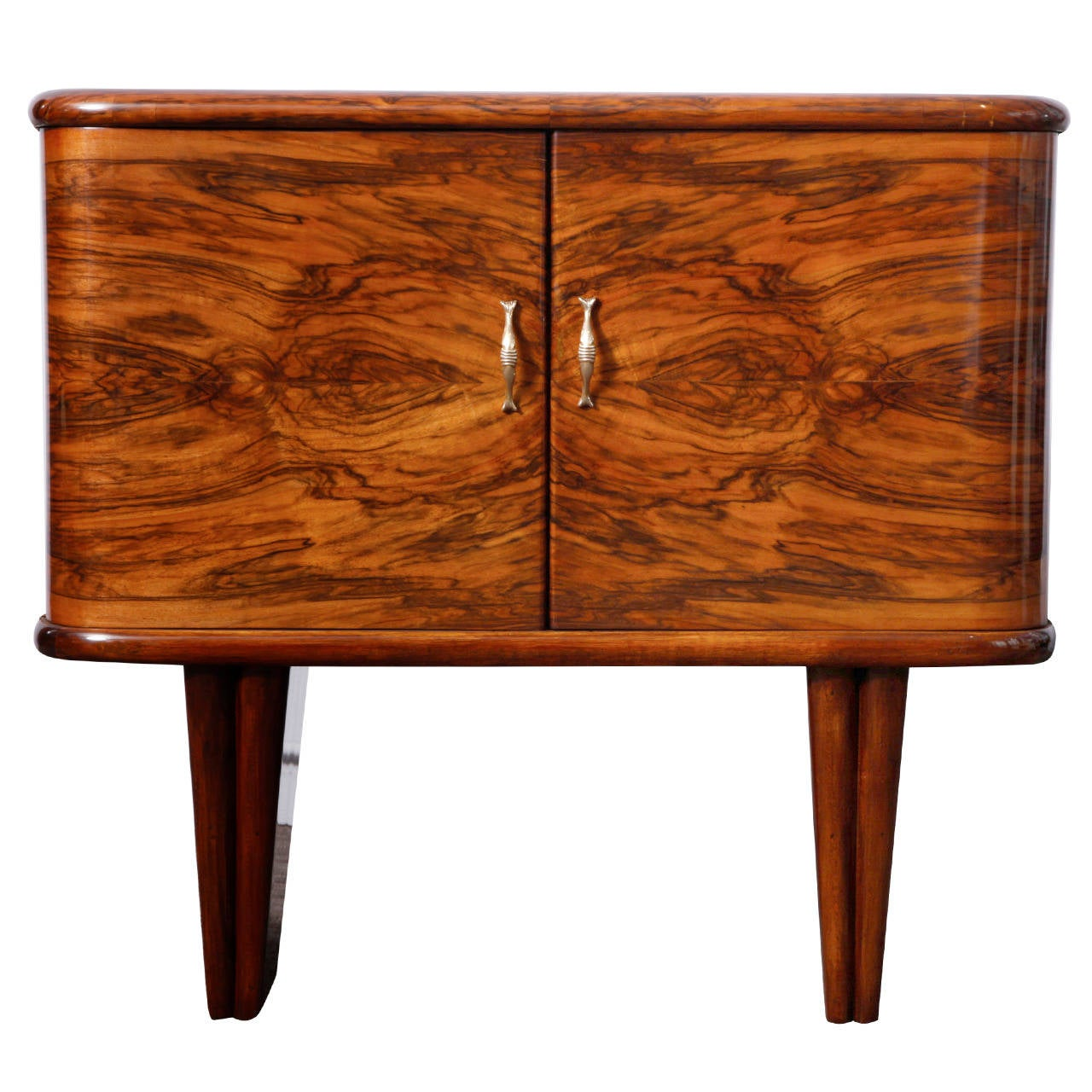 Walnut Italian Art Deco Bar At 1stdibs