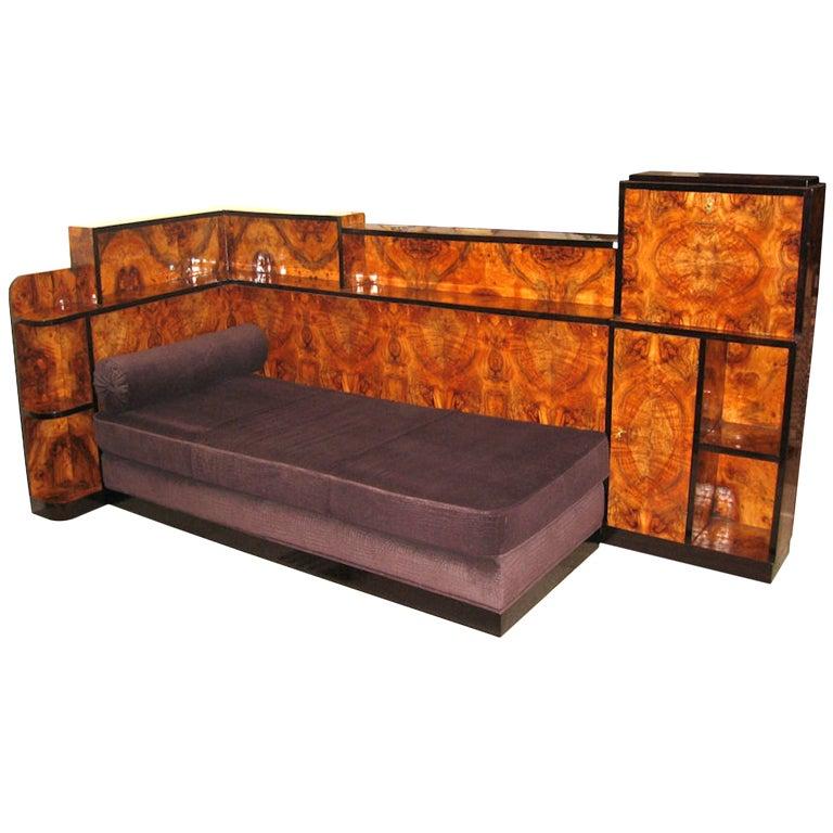 art deco cosy corner at 1stdibs. Black Bedroom Furniture Sets. Home Design Ideas