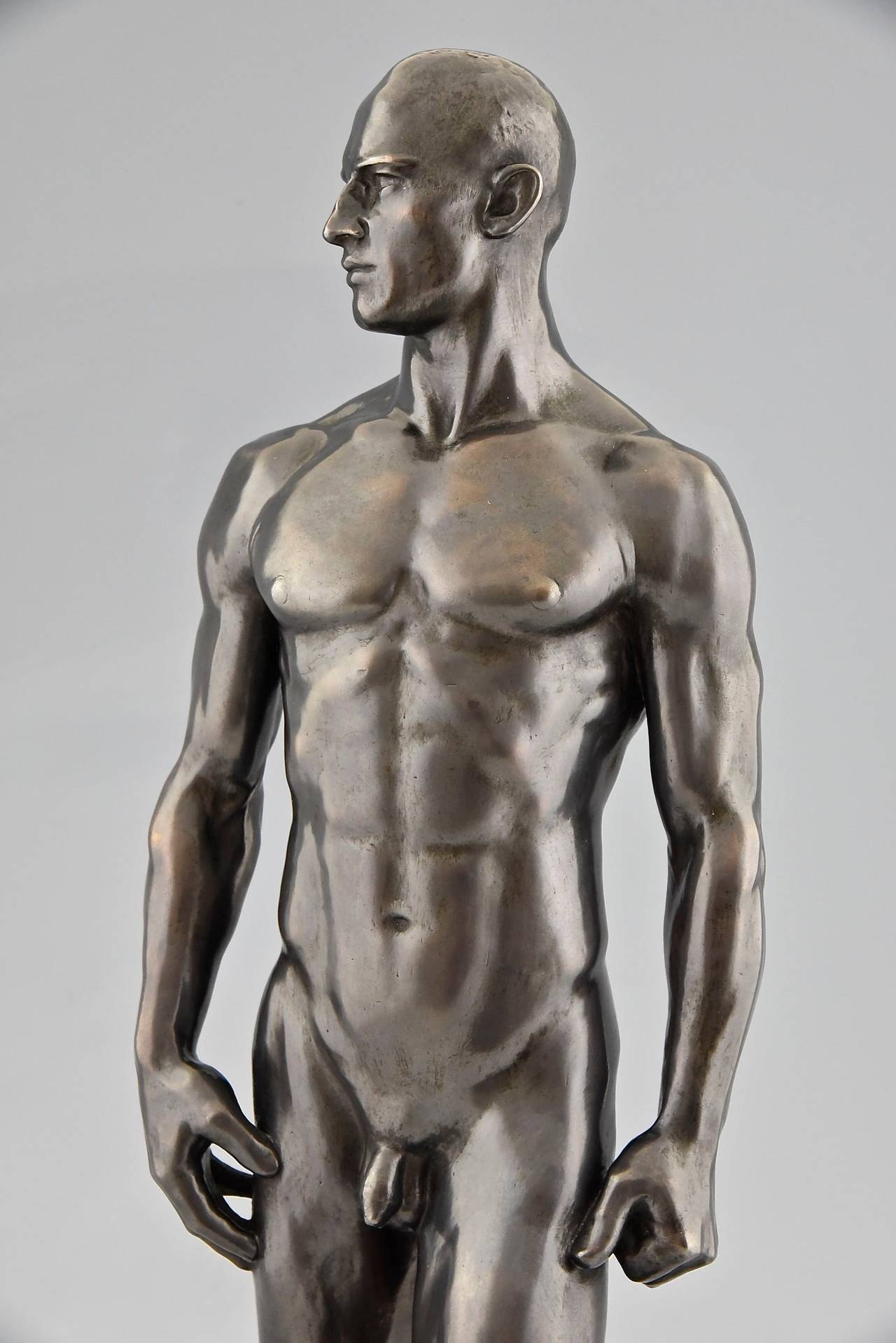 Sculptures of male nudes