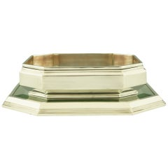 Art Deco Flower Dish with Matching Mirror Plateau by Wiskemann