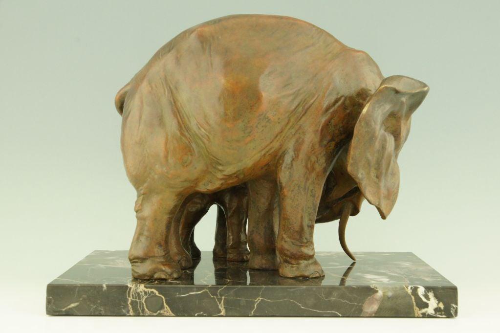 art deco bronze elephants by i rochard france at 1stdibs. Black Bedroom Furniture Sets. Home Design Ideas