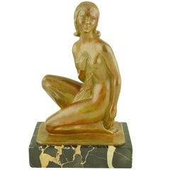 Art Deco Bronze Sculpture Of A Nude By Zoltan Kovats.