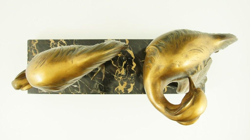 art deco bronze group of crane birds by g h laurent at. Black Bedroom Furniture Sets. Home Design Ideas