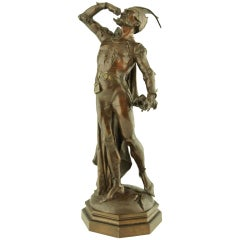 Bronze sculpture of Mephistopheles by August De Wever.