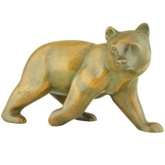 Art Deco Bronze Bear By Irenée Rochard