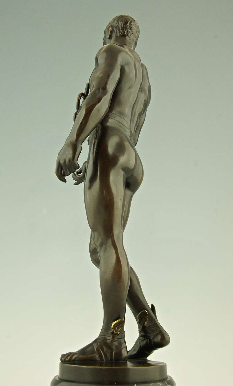 Antique Bronze of Hermes or Mercurius by Rudolf Kaesbach, Germany 2
