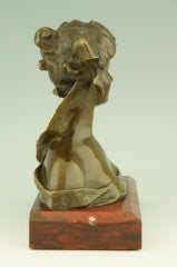 Art Nouveau Bronze Bust By Georges Van Der Straeten, France. image 3