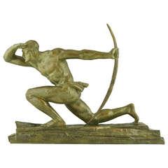 Bronze Art Deco Sculpture - The Archer by Pierre Le Faguays, France 1930