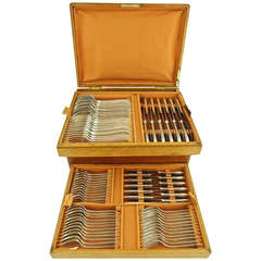 Art Deco 92 Piece Silver Plated Cutlery Set by Argental