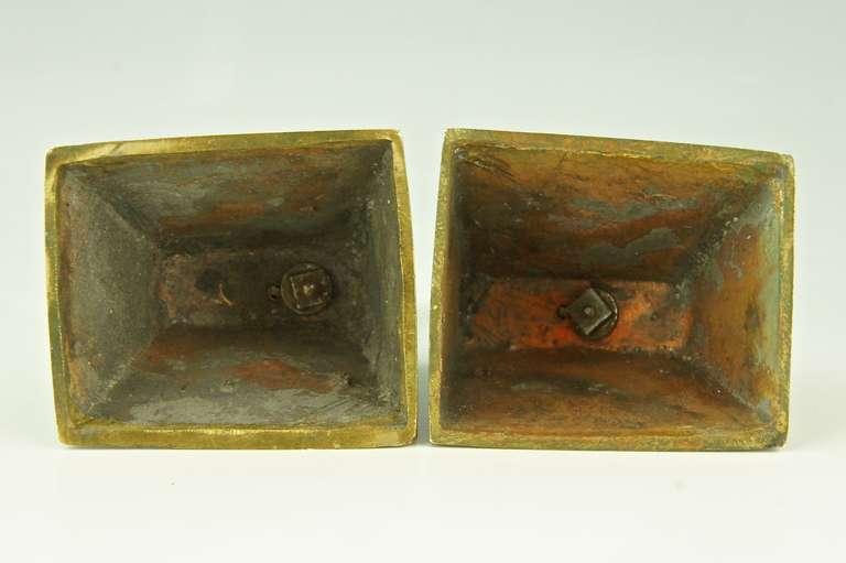 Pair of Art Deco Bronze Rabbit or Hare Bookends by Henri Rischmann, 1925 3