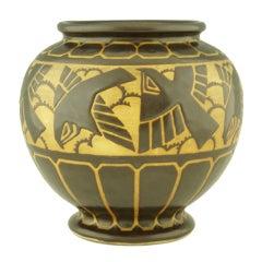 Art Deco grès Keramis vase by Charles Catteau.