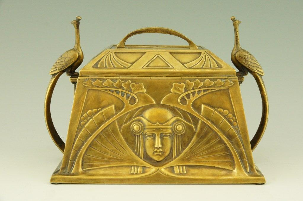Art Nouveau jewelry box by WMF 3