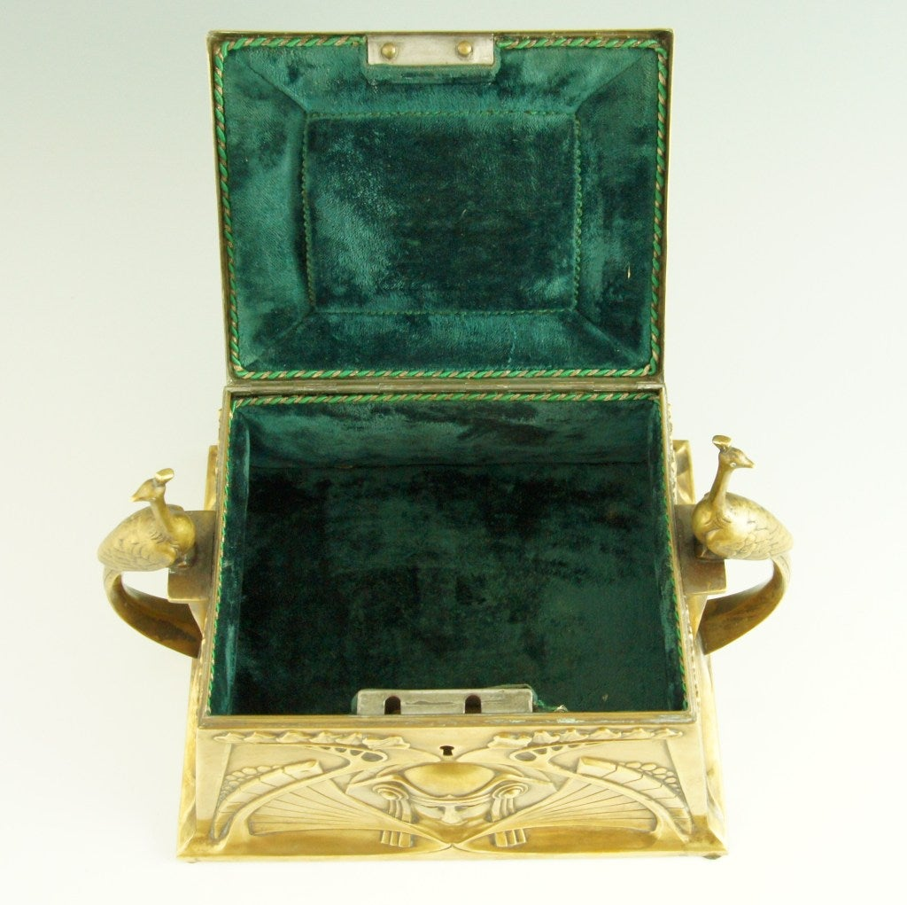 Art Nouveau jewelry box by WMF 9