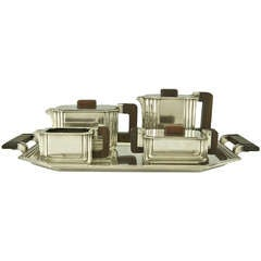 5 Piece Art Deco Tea and Coffee Set by Argental
