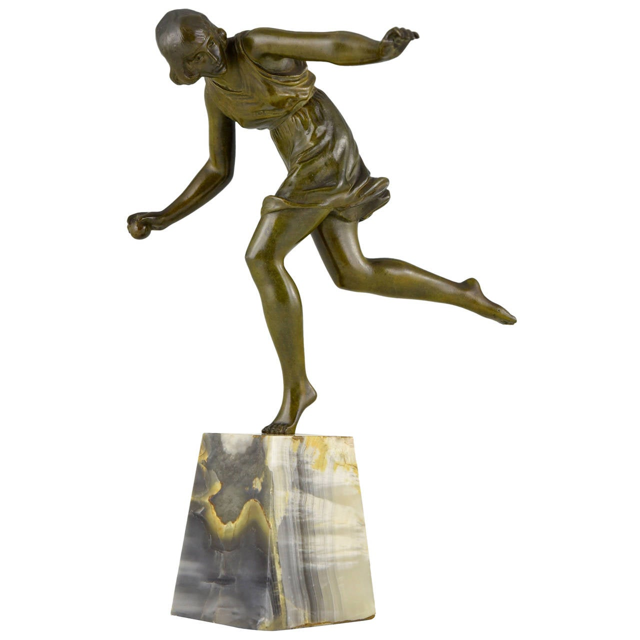 deco bronze sculpture of a with by le faguays 1922 for sale at 1stdibs