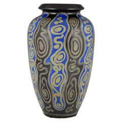 Art Deco Gres Keramis Vase by Charles Catteau, Boch Freres 1925
