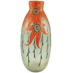 Art Deco vase by Legras, France.