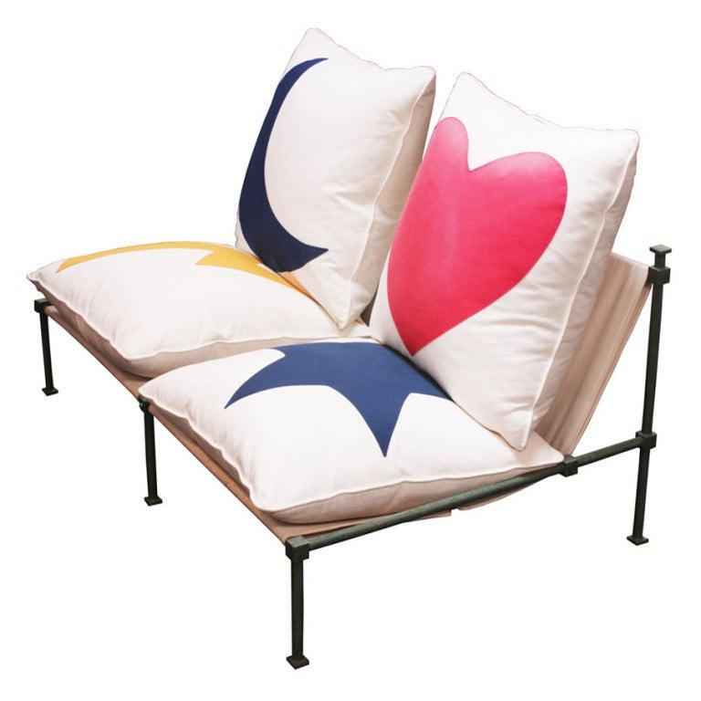 sofa by jean michel wilmotte at 1stdibs. Black Bedroom Furniture Sets. Home Design Ideas