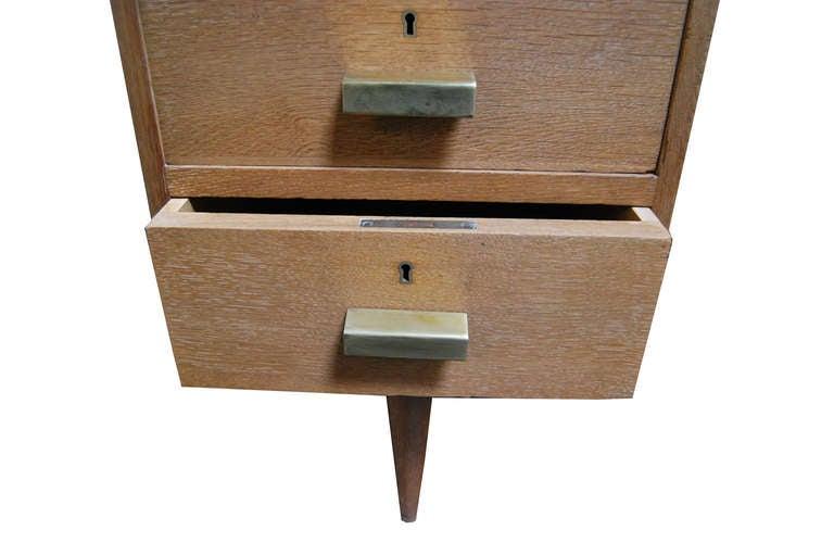 Limewashed oak desk For Sale 1
