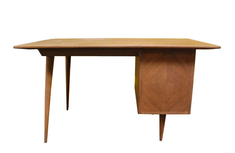 Spanish Limewashed oak desk For Sale