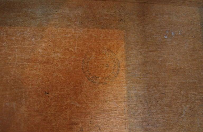 Limewashed oak desk For Sale 2