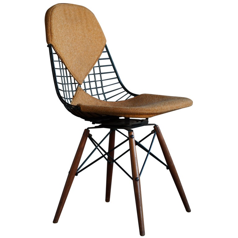 Eames swivel dowel legged chair dkw 1 at 1stdibs for Eames dowel leg side chair