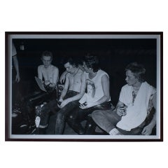Sex Pistols backstage, large photo by Dennis Morris, 100x149 cm, #1 edition of 5
