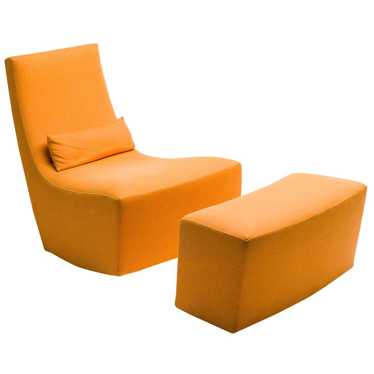 rocking lounge chair and ottoman by ligne roset at 1stdibs. Black Bedroom Furniture Sets. Home Design Ideas