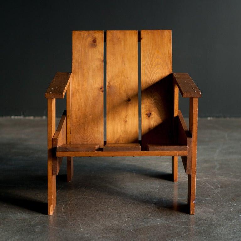 Gerrit Rietveld Crate Chair At 1stdibs