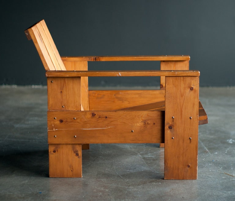 Rietveld crate chair plans the image for Sedia steltman