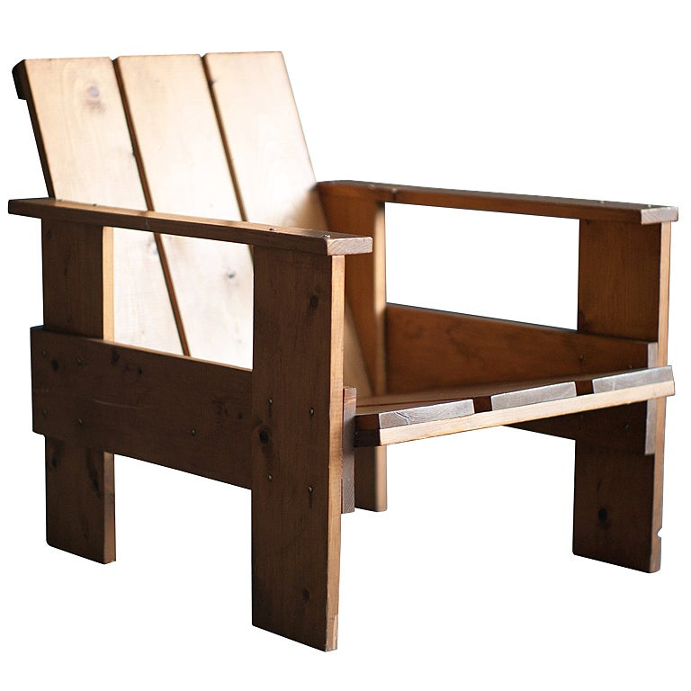 gerrit rietveld crate chair. Black Bedroom Furniture Sets. Home Design Ideas