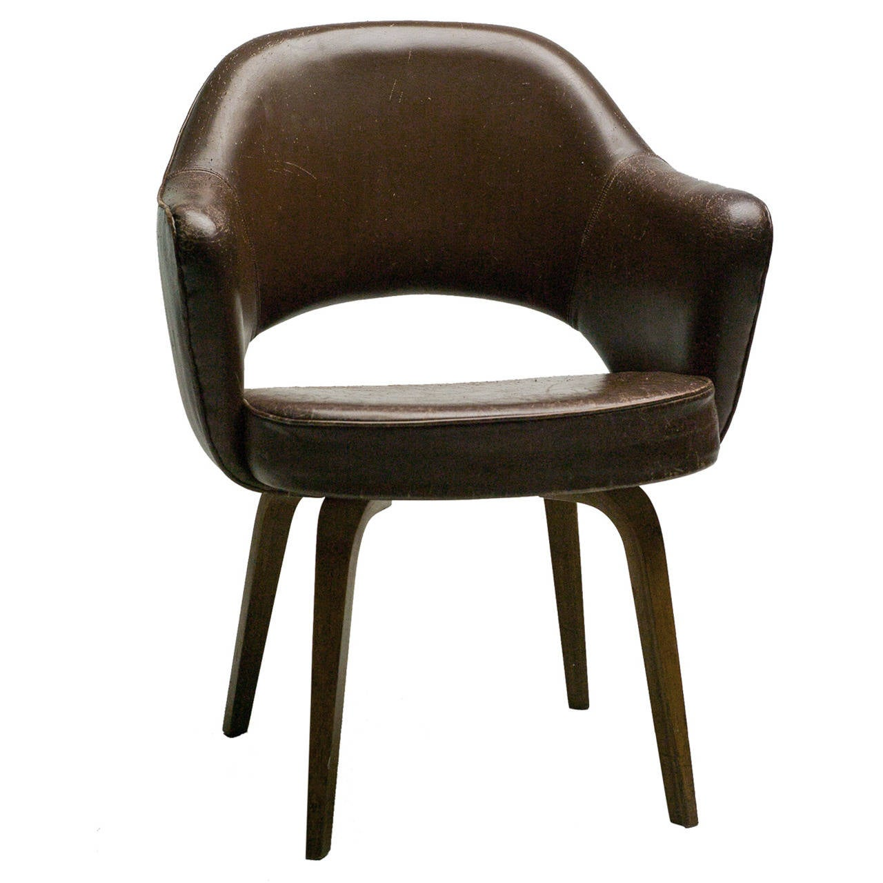 Executive Armchair In Leather By Eero Saarinen For Knoll