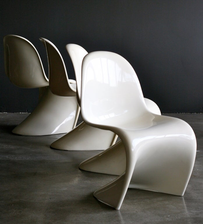 First Edition White Panton Chair At 1stdibs