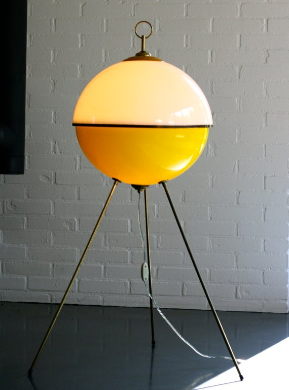 Beautiful 1950's Italian floorlamp manufactured by Arredoluce.  Design attributed to Gio Ponti. Inside with paper label. We offer museum quality crating and affordable worldwide shipping. Feel free to inquire!