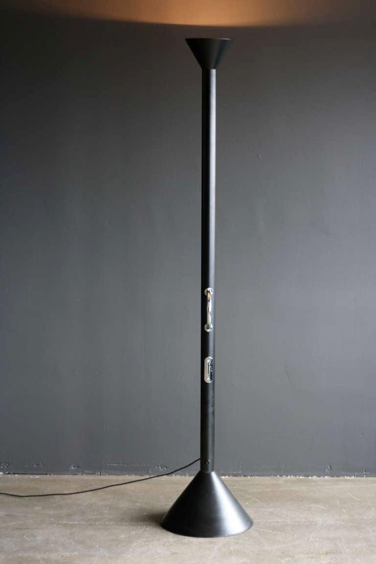 Black Callimaco Floorlamp Ettore Sottsass For Artemide At